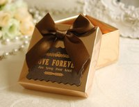 candy packaging supplies - 6 cm Favor Holders Boxes Get married box bag candy Gold and Red joyful packaging personality box Wedding Supplies