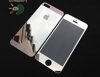 Wholesale Colorful Glass Films For iPhone s Premium Tempered Glass Film Screen Protector Front or Back Shatter With Retail Packag