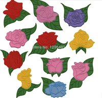 applique cutting machine - computer affixed cloth embroidered patch Applique Beautiful flower different color mixed11pcs hot cut Iron on