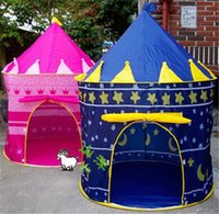 Cheap Children Beach Tent Prince and Princess Palace Castle Children Playing Indoor Outdoor Toy Tent Game House