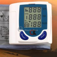 Wholesale PC Digital LCD Wrist Arm Blood Pressure Monitor With Heart Beat Rate Pulse Measure Health Care Monitors