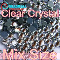Wholesale Mix Sizes AAA Clear Hotfix Rhinestones SS4 SS6 SS8 SS10 SS12 SS16 SS20 SS30 glass strass glitter crystals stones for garment DIY