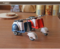 bicycle pedal metal - Metal Motorcycle Model Handmade Classic Style Little Wort of Art Pedal motor Toy Same with the Rome Holiday Decoration and Gift