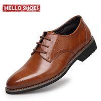 Wholesale 2016 New High Quality Genuine Leather Men Shoes Brogues Lace Up Bullock Business Men Oxfords Shoes Men Dress Shoes
