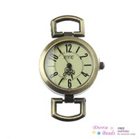 antique watch face necklace - Watches Face Fit Bracelet Necklace Round Antique Bronze Fits mm Watch Bands Wristbands Piece B34169