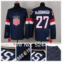 Cheap stitched 2014 Olympic Team USA #27 Ryan McDonagh Jersey Sochi Winter olympic Ice Hockey Jersey Blue white