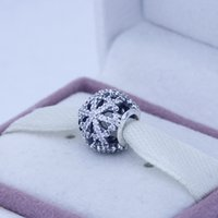 Wholesale Snowflake Black Friday Bead Original Authentic Sterling Silver Charms DIY Jewelry AC3218