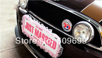Wholesale 2014 Special fashion Just Married Wedding Car banner Wedding party Decoration brand Wedding Photo Prop