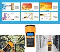 Wholesale Quality Handheld Ultrasonic Tape Measure Distance Tester Meter Digital LCD Laser Pointer Digital Measurer Tool Yellow