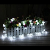 Wholesale 20 LED solar powered Lotus Flower outdoor string lights solar lantern lamps for Garden Wedding Christmas Party Festival Outdoor Indoor Decor