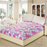 Wholesale Cotton Bed Pad Mattress Cover Reactive Printing Fitted Bed Sheet Twin Full Queen