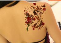 best tattoo flash - Best Promotion Waterproof Fashion Temporary Tattoos Metal Tatoo Stickers Gold Carp Flash Tattoo for Men Women Male