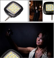Wholesale Portable Mini LED Dimmable Light Cellphone Camera Flash Fill in Light Pocket Spotlight Photo Video Light Lamp Speedlite For Android Phone
