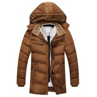 argyle cap - new coats men thickening with cap Down jacket outdoor warm coat hot sale