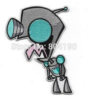 animated cartoon series - 4 quot Invader Zim Animated TV Series Gir Robot Figure TV Movie Show Series Cartoon punk applique sew on iron on patch
