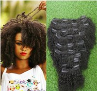 american beauty hair - Hot Beauty African American Clip In Hair Extensions Human A Unprocessed Virgin Brazilian Afro Kinky Curly Clip In Hair Extension G