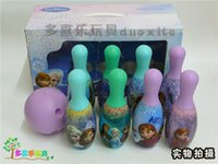 sports ball - 2014 New Frozen Elsa Anna Kids bowling bowl Toys indoor and Out door sports Ball Toys