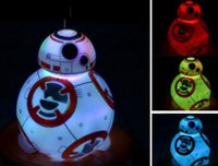 L'action de guerre Avis-Star Wars BB-8 BB8 Lumière Nuit La Force éveille Action Toy Figure Anime 7 Changement de couleur Lampe de table LED Nightlight éclairage Décoration intérieure