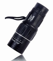 Cheap New Binoculars 16X52 Zoom Lens Sports Monocular Telescope Spotting Scope for Outdoor Traveling Hiking Camping Black Freeshipping by DHL