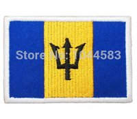 barbados flag - 10 Pieces Barbados Flag x cm World Flag Embroidered Applique Iron on Patch FL