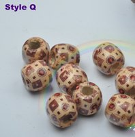 Wholesale 100pcs large wooden Loose beads Jewelry accessories DIY MM Optional colors