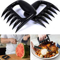 Wholesale Set of Bear Paws Pulled Pork Shredder Claws Grilling Meat Handler Forks BPA Free Heat Resistant Black E505E