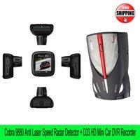 Wholesale Cobra XRS Car Speed Anti Radar Laser speed Detector English Mini HD Car DVR D33 HDMI H Night Vision Dash Cam Recorder