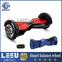 electric remote - 6 inch Smart Balance Wheels Bluetooth Music Speaker LED Lights Two Wheeled Self Balancing Electric Scooter samsung battery remote CE ROSH