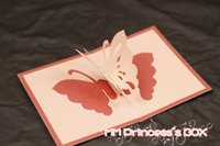 Others best paper for business cards - Best Creative Christmas Gift DIY Paper sculpture greeting cards carved butterfly for clients in New Year and business meeting