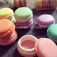 Wholesale 6ps Cute Candy Pastel Color Macaroon Jewelry Box Macaron Mini Storage Box Kawaii Decoration