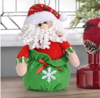 Wholesale Christmas decorations bag is lovely sitting old man doll for Christmas Christmas decorations bag lovely sitting doll for Christmas