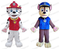 Wholesale HOT SALE patrol chase marshall dog mascot costume cartoon character fancy dress