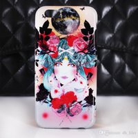 bag cell phone old - For Apple Iphone old fashion beatiful women floral tpu soft cell phone cases OPP bag