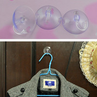 Wholesale 12 mm Home Bathoom PVC Clear Blue Plastic Suction Cup Hook