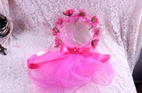 Wholesale Wedding headdress bridal Hair Accessories fashion Double color wreath Hair charm children Wedding Accessories seaside Taking pictures TS33
