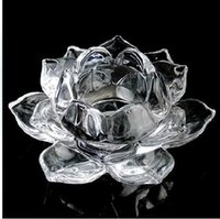 acting process - FBH031824 Process of crystal lotus cup candle holder Taiwan hotel household act the role ofing is tasted