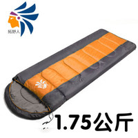 Wholesale double zipper thick warm sleeping bag for outdoor Spring and Autumn adult single or double ultralight lunch break sleeping bag