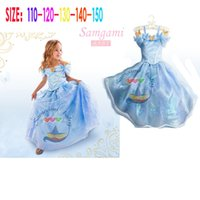 Wholesale 30pcs new kid girls Princess dress Elsa Anna Dress tutu dance dress Cinderella Costume Girls Childrens Kids dress