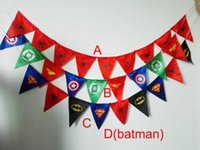 flags and banners - 4design superman Spiderman batman pennant flag banner triangle flag banner fabric custom flags and banners christmas garland decoration