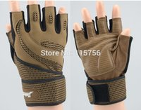 Wholesale Weightlifting Gloves Anti skid Fitness Protect Wrist GYM Gloves Fitness And Body Building