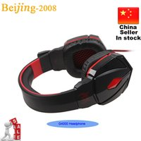 Wholesale Cheap Headphones For Pc - 2015 New EACH G4000 Stereo Gaming Headphone Headset Cheap Headband with Mic Volume Control for PC Game Headsets Free Shipping 002994