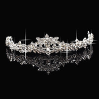 china star - Hot Sales Cheap Sparkling Crystal Rhinestone Crown Tiara Wedding Prom Bride Headband Wedding Headdress Made In China