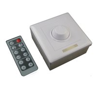 Wholesale 1Channel A V V Wall Mounted LED Dimmer Switch with IR Keys Remote Control Single Color for LED Lights