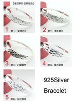 Wholesale 925 Sterling Silver Bangle Pure Silver Bangle Bracelets Gorgeous Shinning Bangles Fashion Jewelry Mix Item Freeshipping