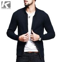 az cotton - Promotion Hot Sale Cotton Sweaters Sweater Men Cardigan Brand Kuegou The Jacket Type Zipper Knitted Mens Sweater Az