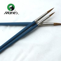 Wholesale Marie s Round Weasel Brushes for Oil Painting Acrylic Painting Gouache Painting Art Supplies G1120