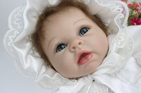 Cheap 22 Inches 55CM Top Quality Fashion reborn baby Girl doll toys oft Silicone vinyl reborn toddler dolls Classic Girls Gift