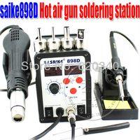 Cheap Free shipping 220V or 110V Saike 898D Hot Air Rework Station Hot Air Gun BGA Desoldering&soldering station welding equipment