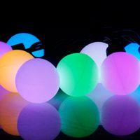 light bulb string lights - Ball Round RGB Led String Christmas Fairy Lights Lighting W LEDS Lamp Bulb Waterproof IP44 RoHs Certificate Ship From USA