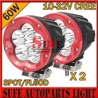 atv heavy duty - 2016 HOT INCH W CREE LED Work Light Off Road Truck Tractor Heavy Duty X4 Car Driving Headlight SUV ATV Motorcycle head lamp W W